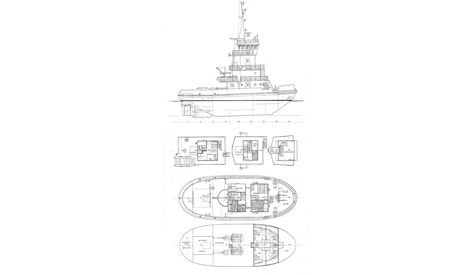 Drawing of Tug and Barge combination