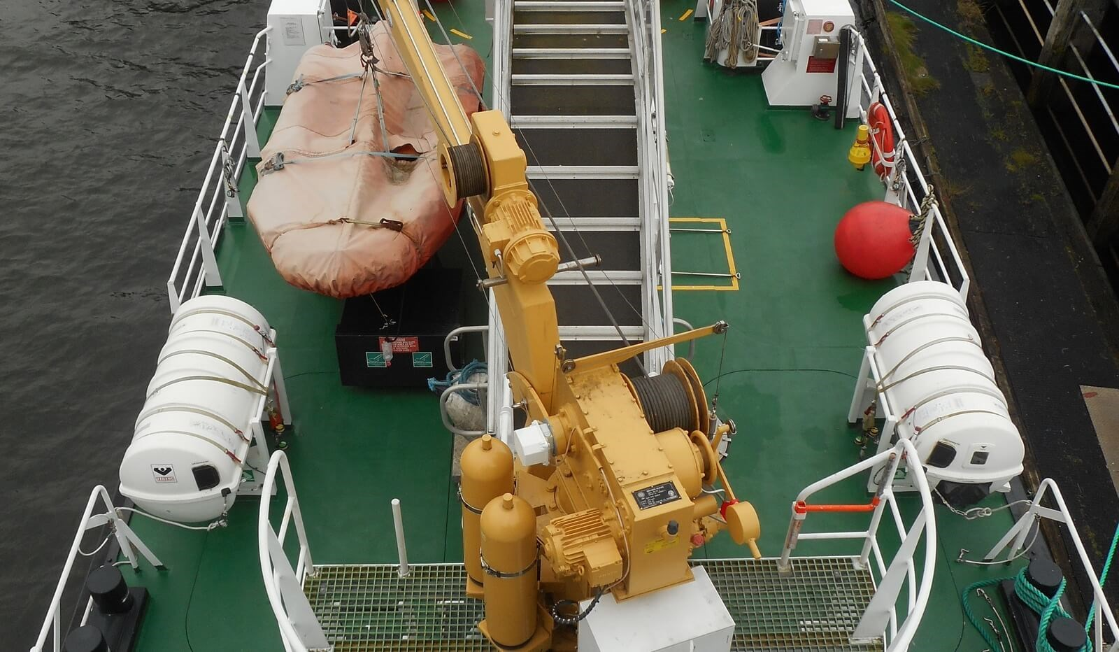 Aft Deck on used Damen Fast Crew Supplier