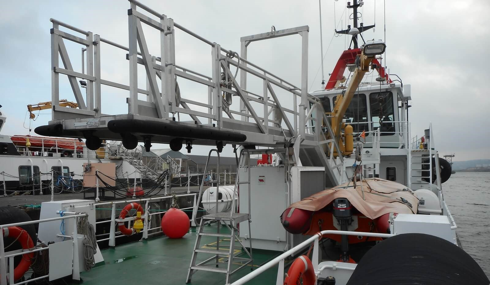 Brow on Aft Deck on used Damen Fast Crew Supplier
