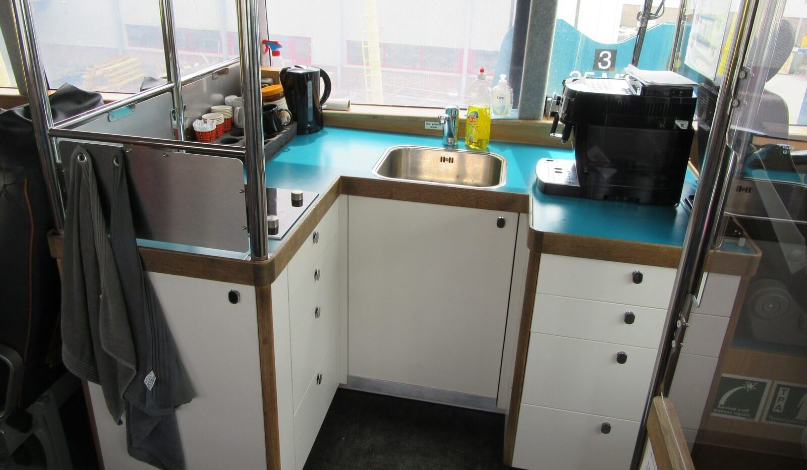 Small galley on main deck for passengers