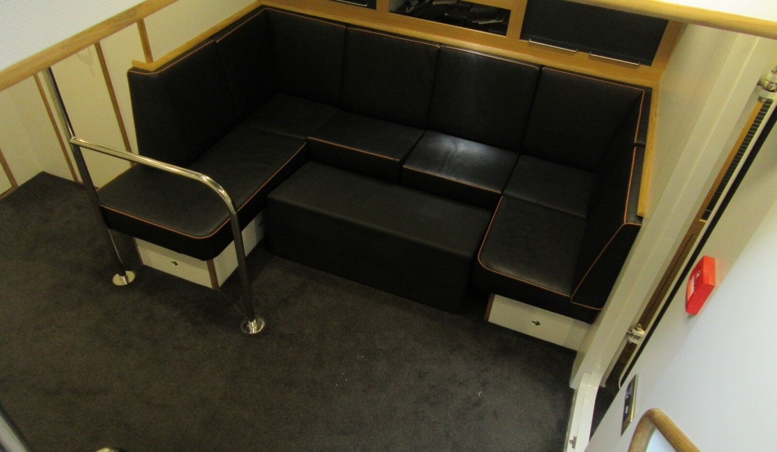 Seating area for crew below main deck