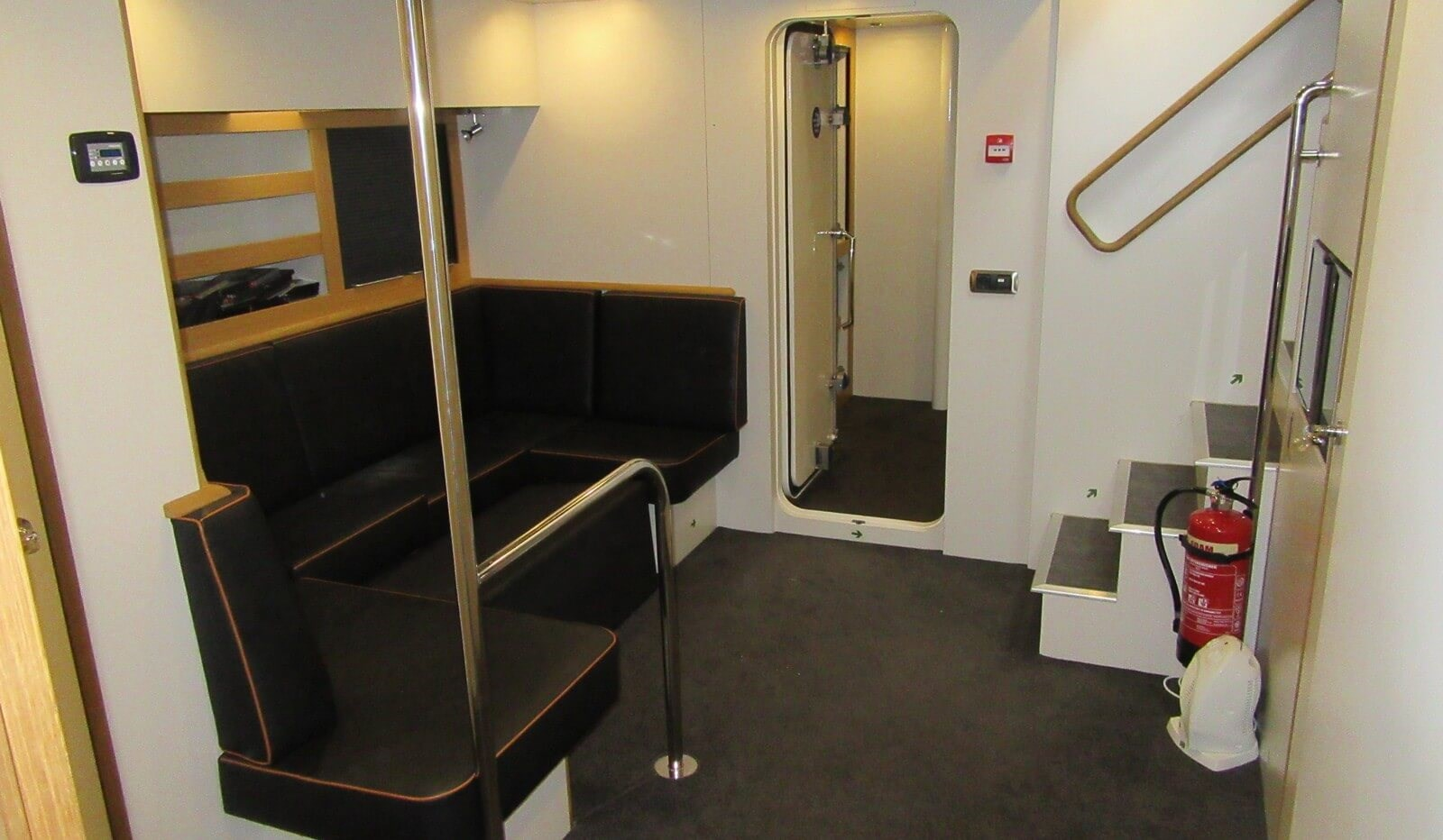 Crew seating area below main deck