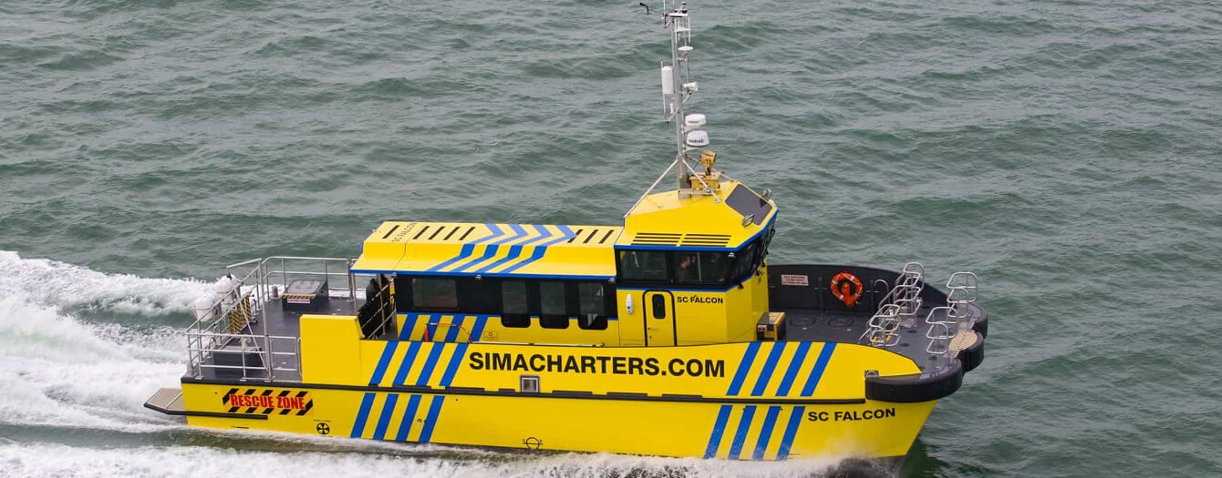 Multipurpose vessel for crew/windfarm/rescue/support operations is available for sale
