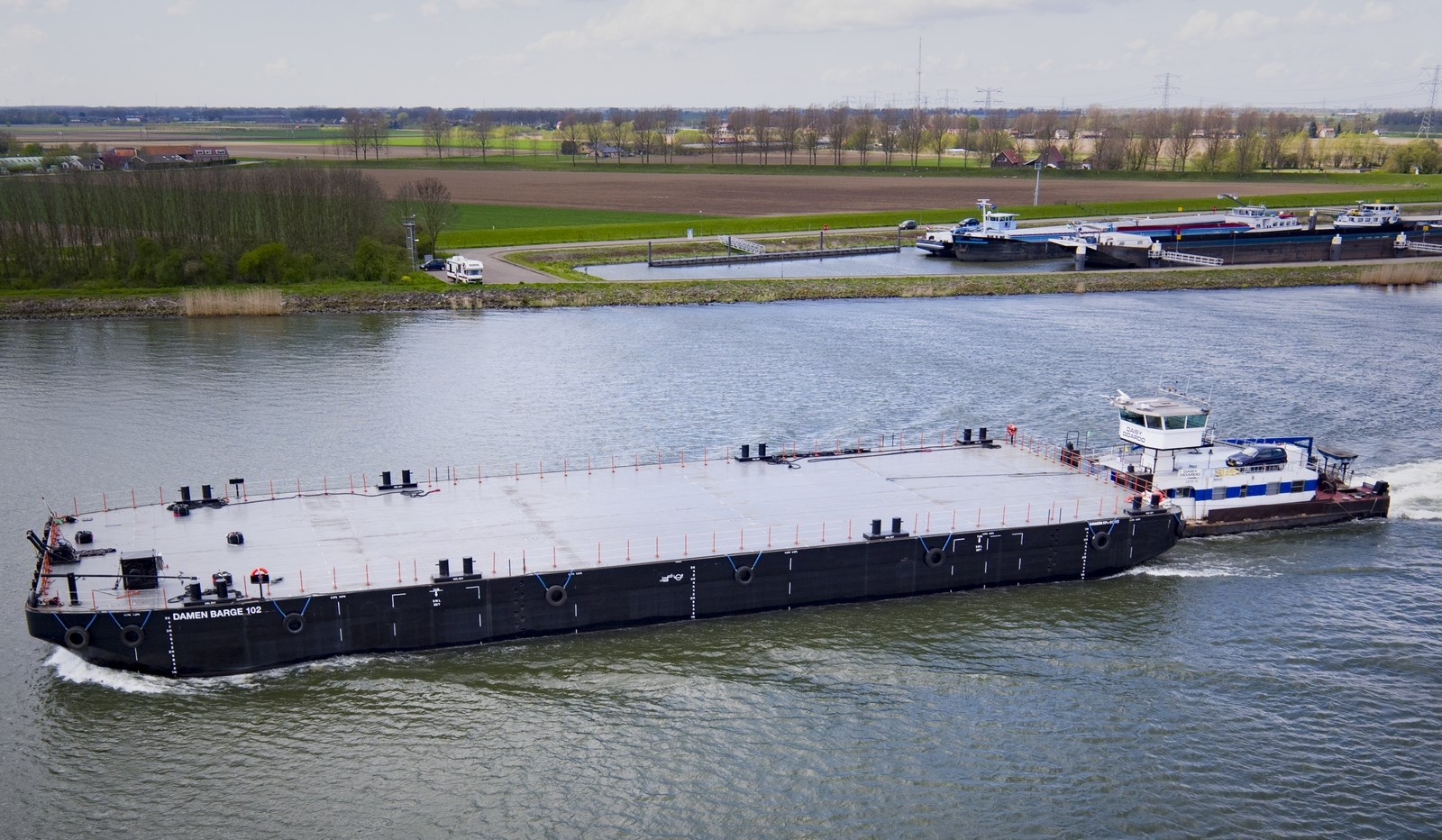 Damen Stan Pontoon 6020 was built in 2015, Damen Shipyards