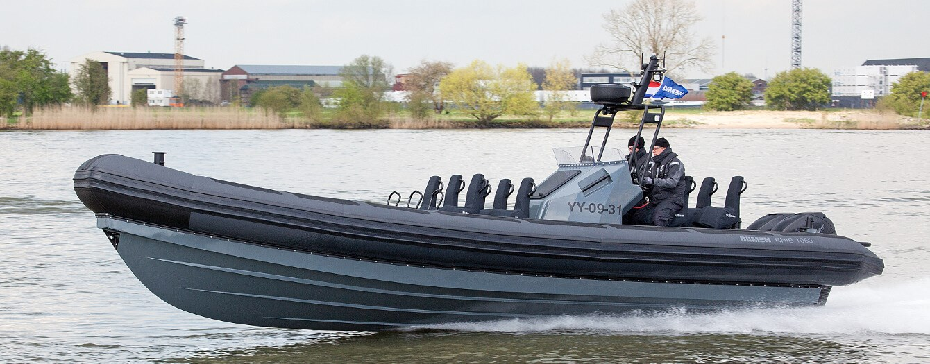 Used Damen RHIB 1050 with outboard engines for sale