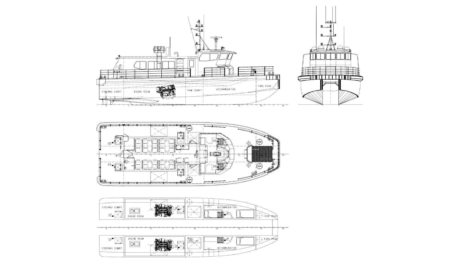 06630 Windfarm Support Passenger Catamaran drawing