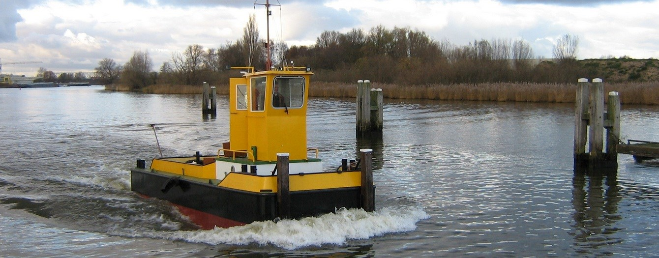 River Pusher with 150 hp output