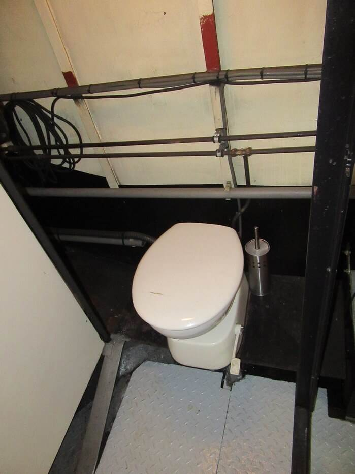 Toilet in engine room