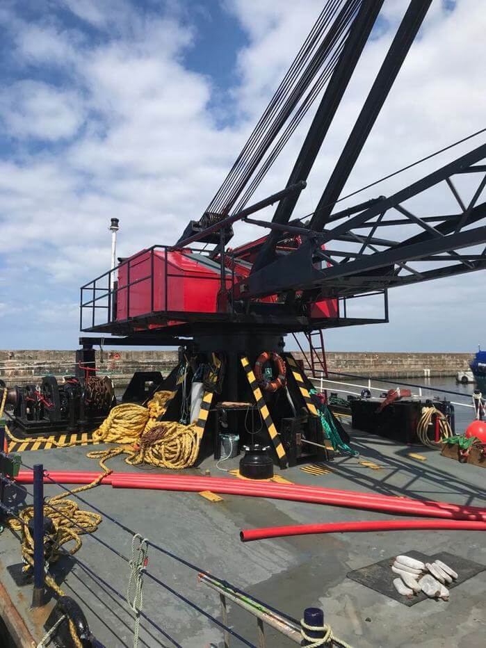 Self-propelled crane barge for sale 06641 (14)