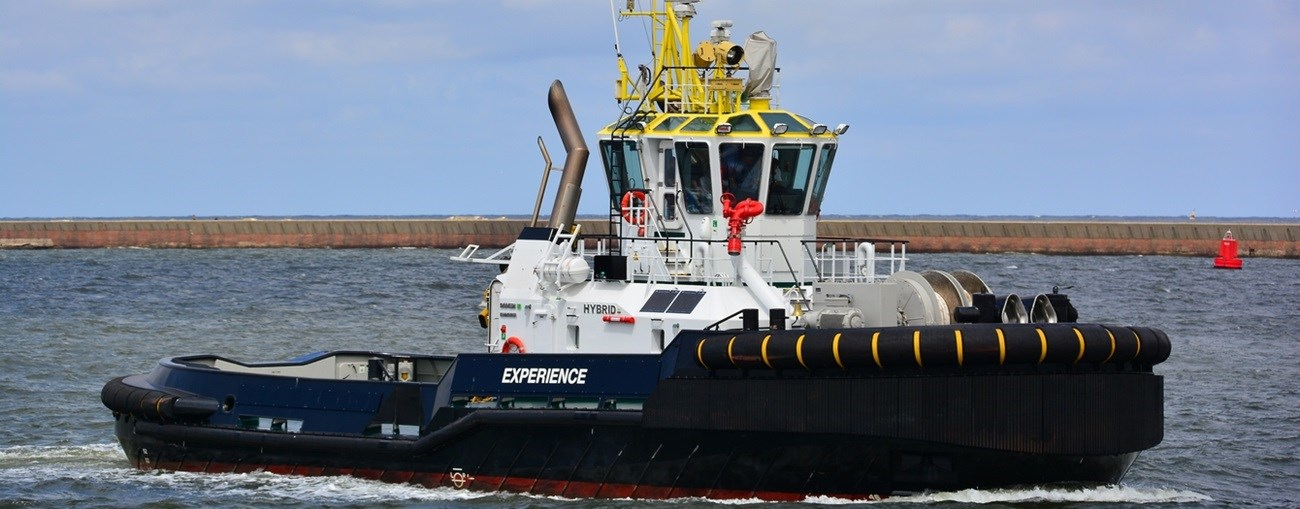 ASD Tug with 4,95 mtrs draft is available for sale.