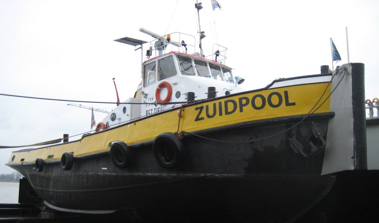 The tugboat 'Zuidpool' was sold from Dutch owner to the new owner in Urk, The Netherlands.
