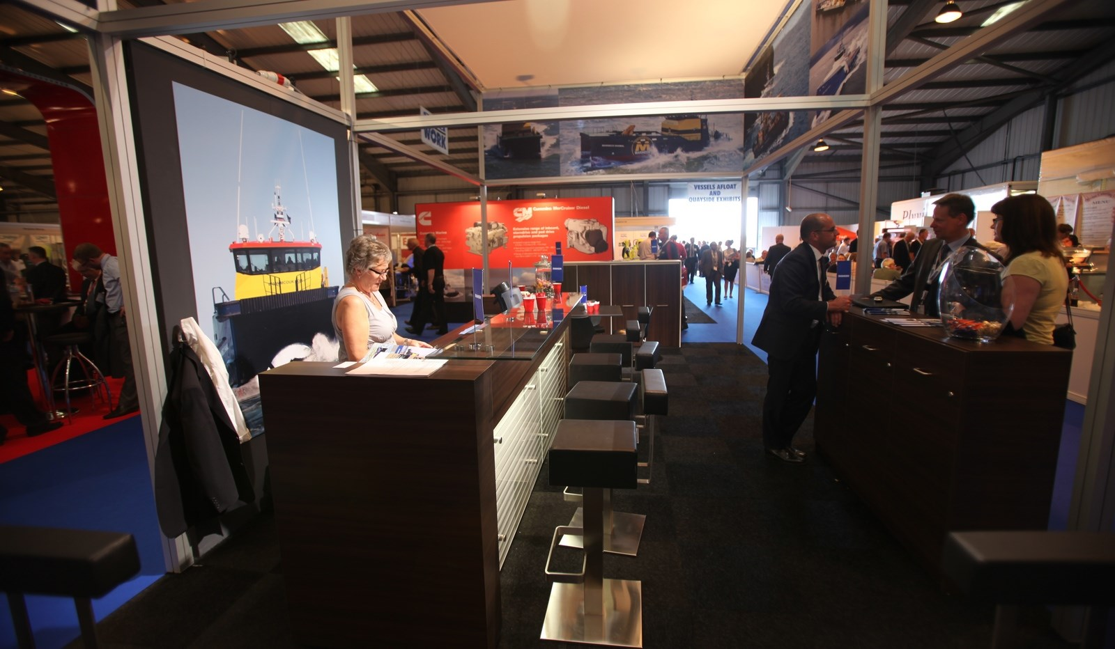 Seawork 2011 was busy as ever, especially on Wednesday the 15th of June there were many visitors.