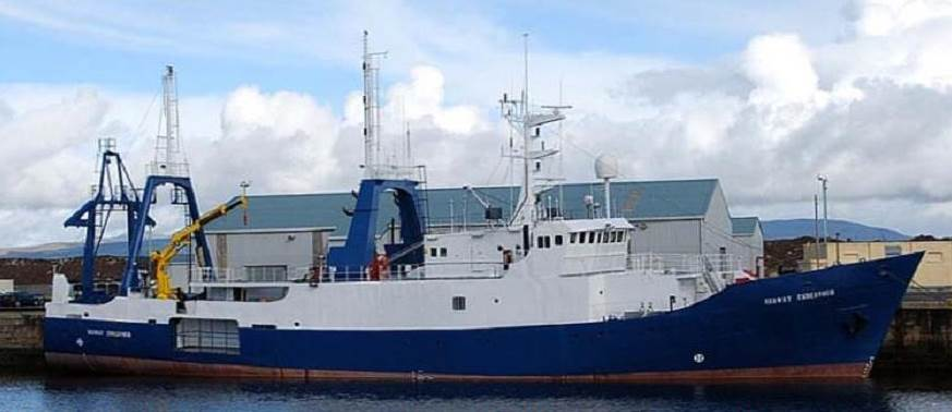 "The research vessel 'Colonel Templer' was sold from U.K. owner ""Serco"" to Swedisch buyers."