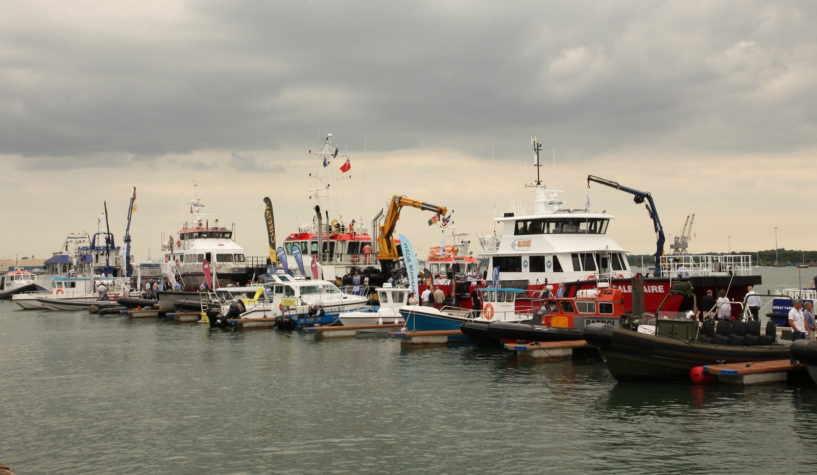 The exhibition was well visited and there were a lot of visitors interested in the vessels outside on the quay.