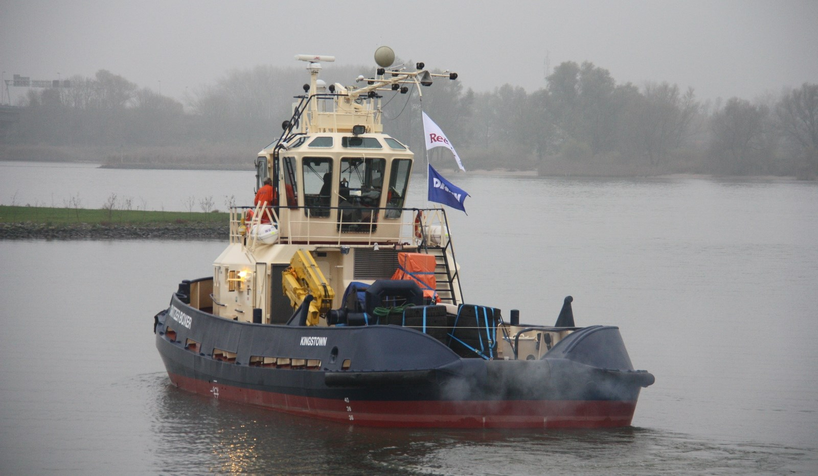"Today the Stan Tug 2208 ""Osprey Boxer"" left our yard in Gorinchem for the Sultanate of Oman."