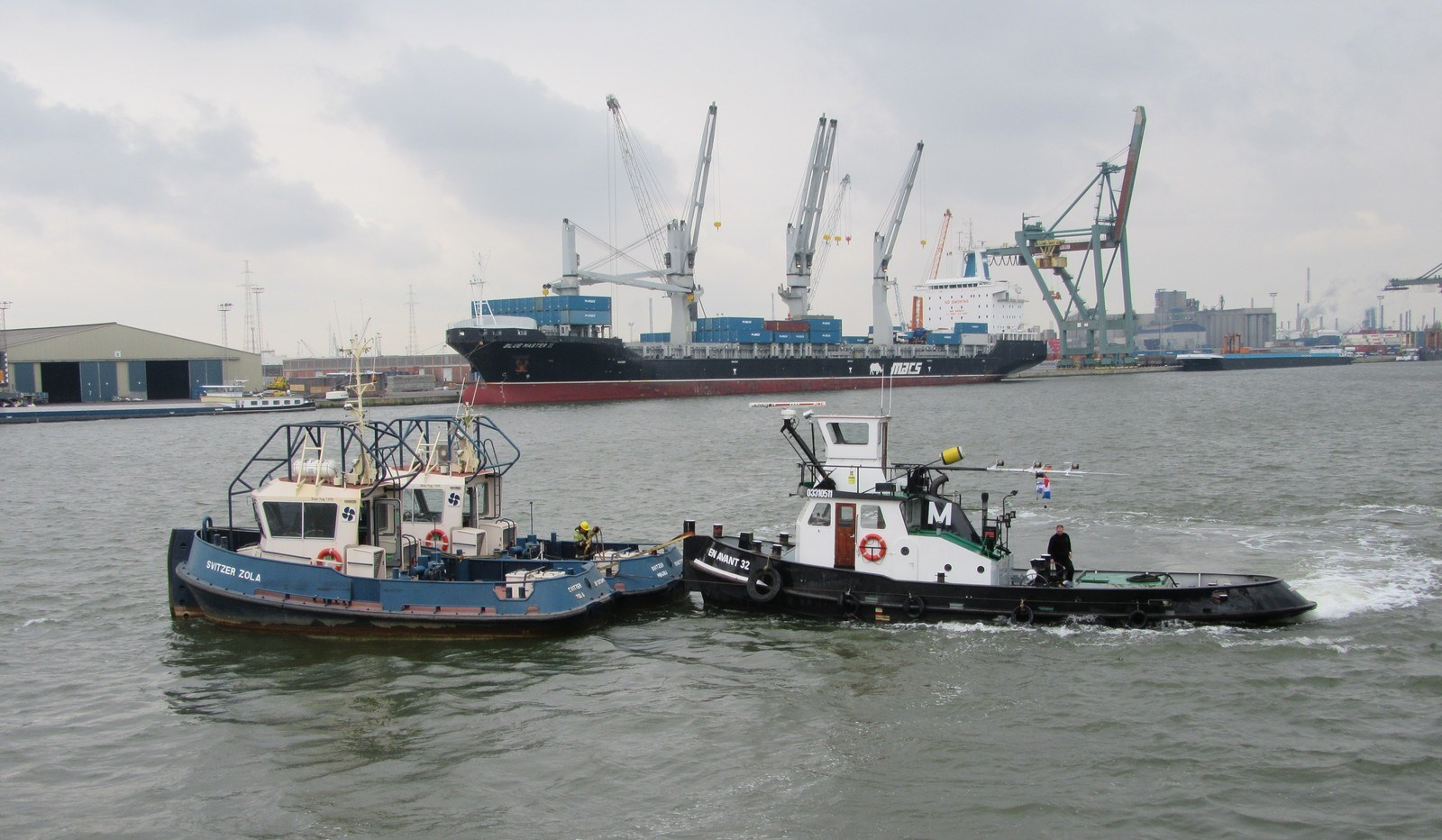 After a journey of exactly one month the two sister Damen Stan Tugs 1205 arrived in the Port of Antwerp