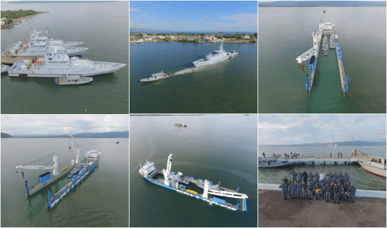 Three used traded in Damen Patrol Boats on their way to Rotterdam