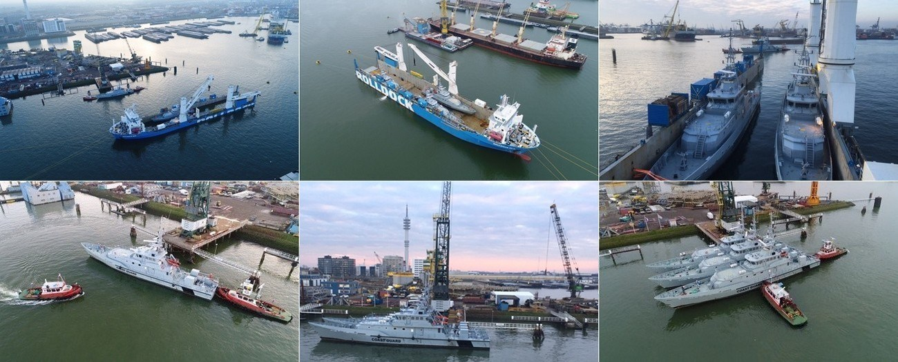 Three Damen patrol boats sold by Damen Trading arrived safely in Rotterdam