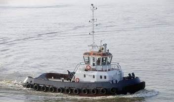 This tugboat was traded in from a UK owner for 2x new DAMEN Stan Pontoon 9127