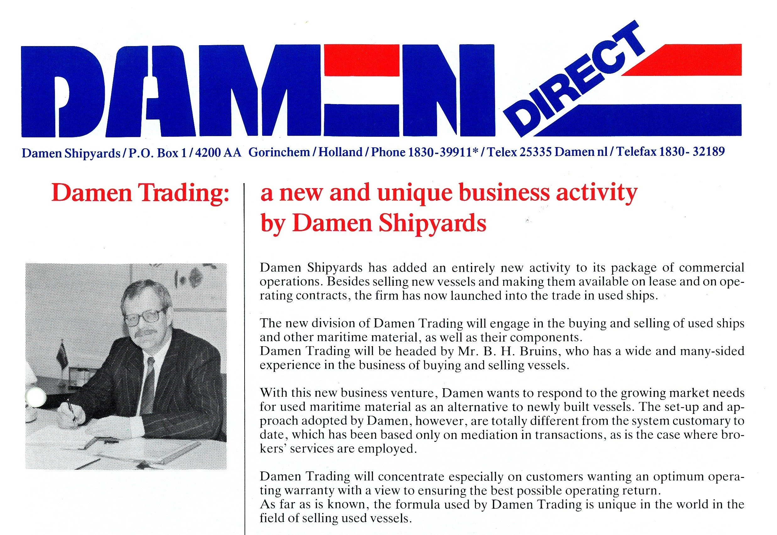 Damen Trading has become a respected broker with much experience