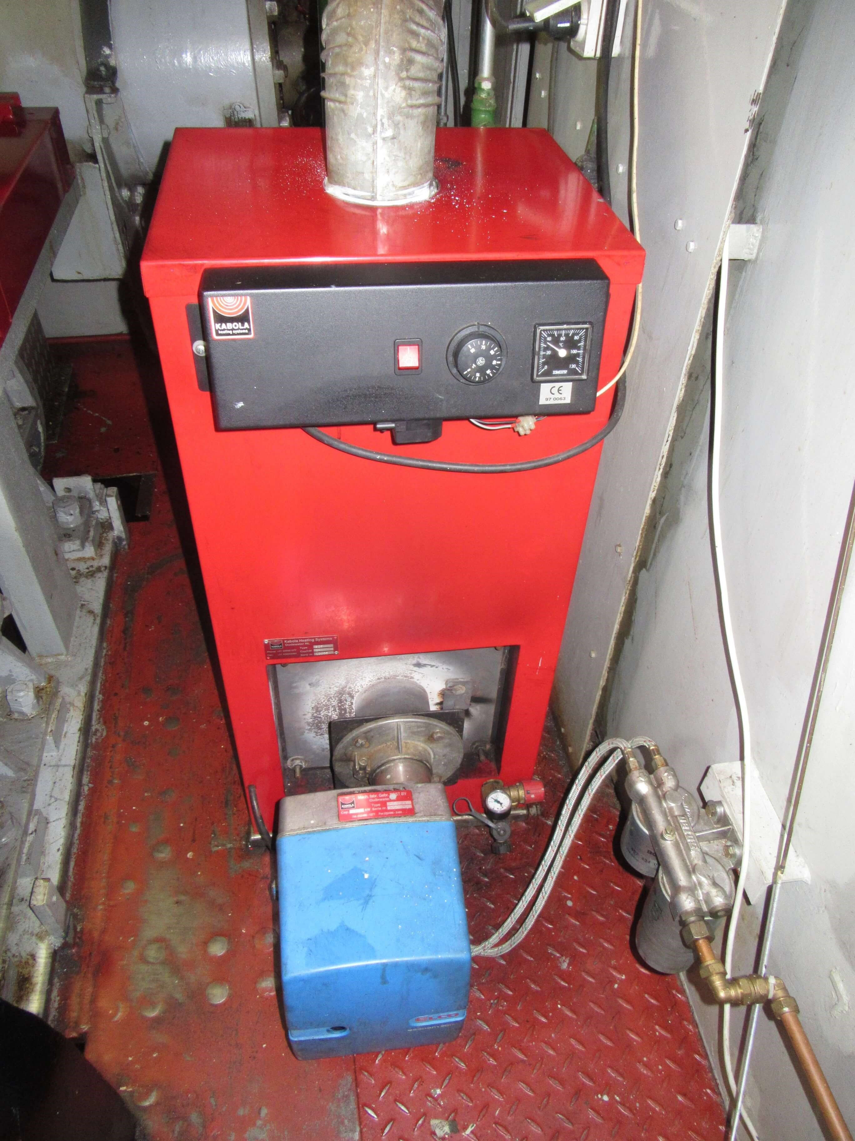 Heater Kubola on used tug