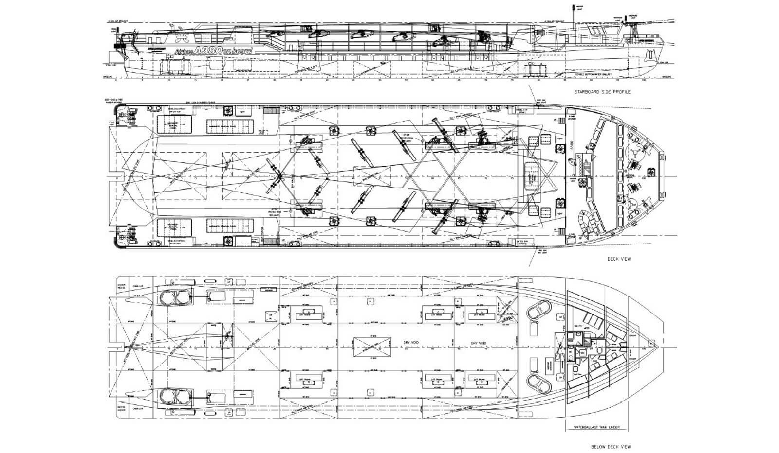 special purpose transport vessel for sale 07610 - damen trading (drawing)