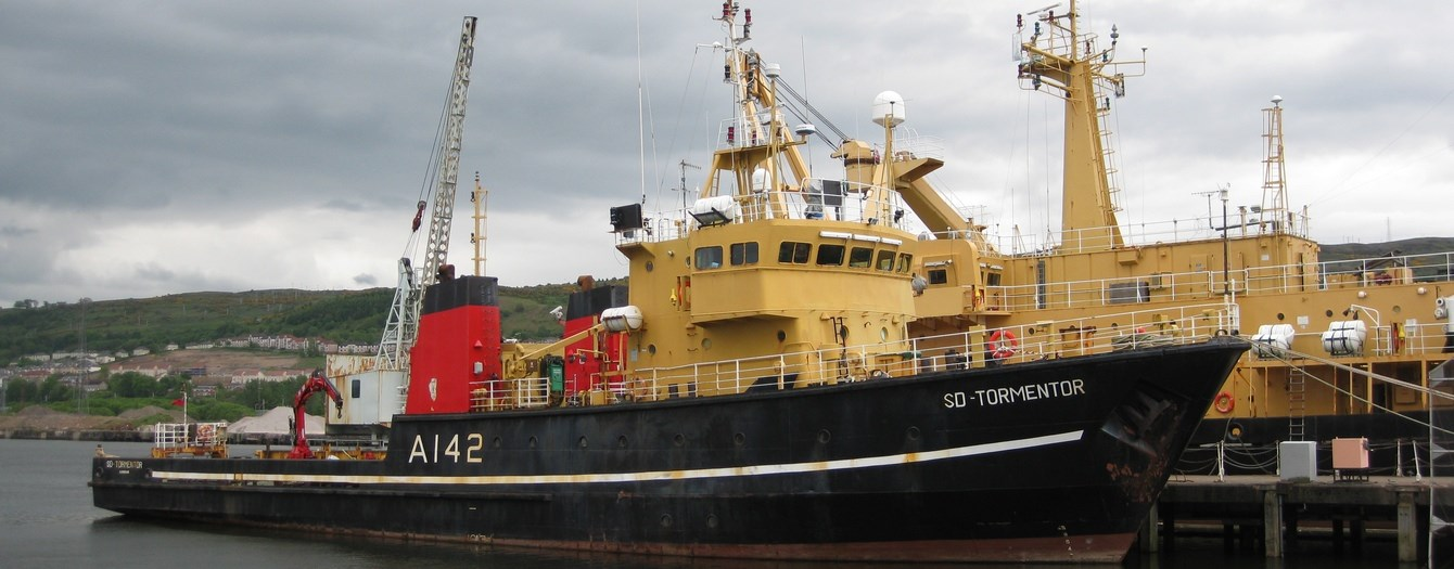 On 3 September the support vessel 'SD Tornado' was handed over from the owner Serco to a new German owner.