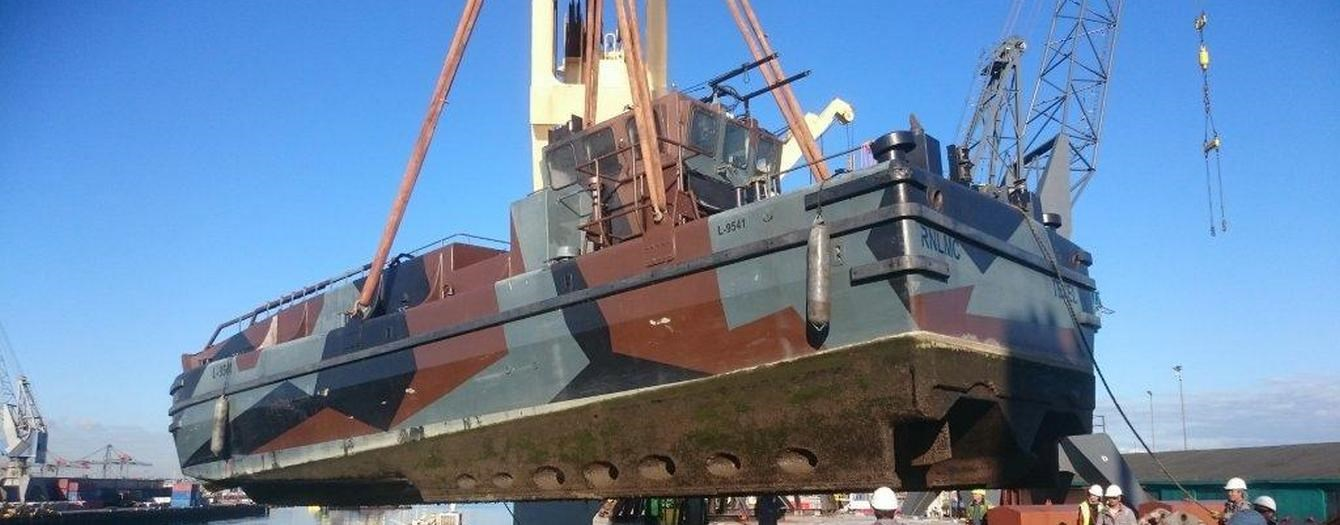 Thursday the 24th September our landing craft left our yard in Gorinchem to Rotterdam
