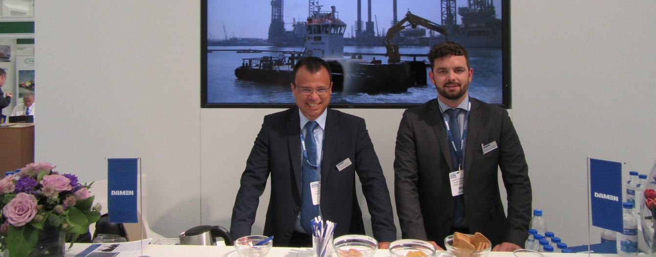 Successful Seawork exhibition in Southampton for Damen Trading