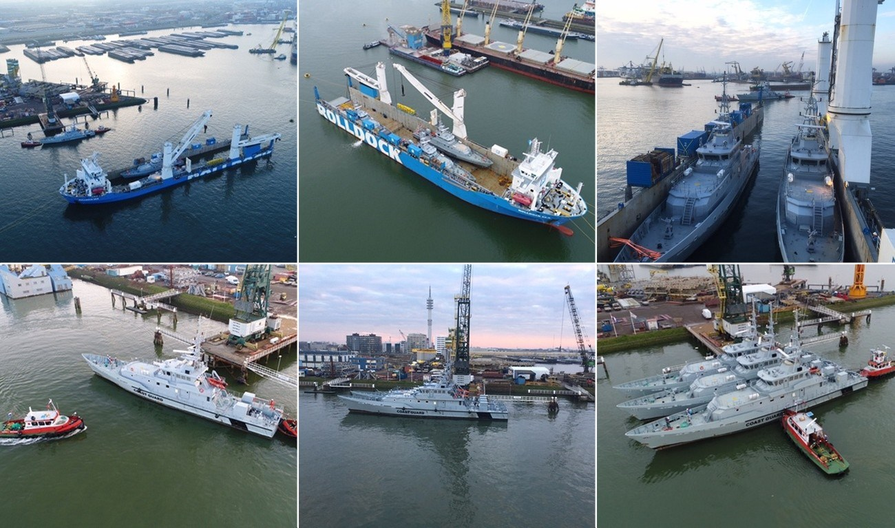 Our Damen patrol boats arrived safely in Rotterdam