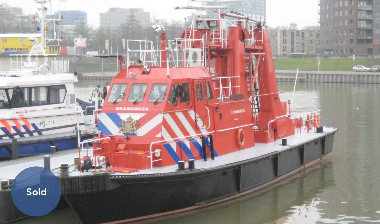 Used fire-fighting boat for fire fighting and emergency duties was sold.